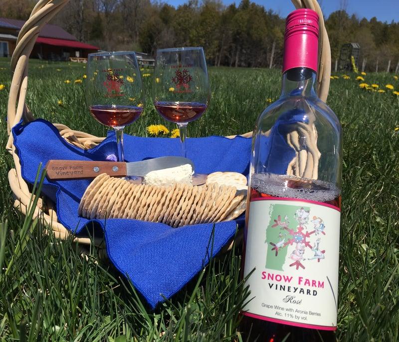 Vermont Rose Wine