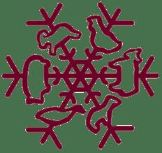 Snowfarm snowflake burgandy-1